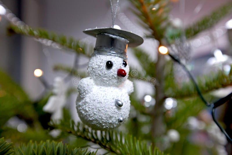 雪人装饰品 免版税库存照片