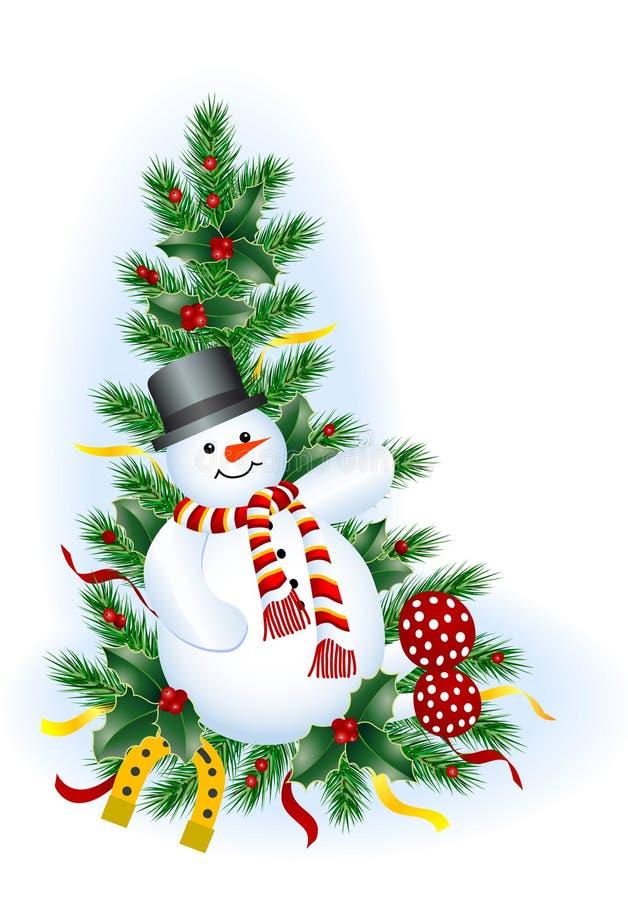 Download 雪人 向量例证. 插画 包括有 艺术, 颈巾, 庆祝, 红色, 夹子, 招贴, 马掌, 问候, 常青树, 金子 - 3650829