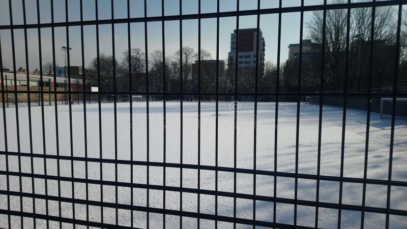 雪伦敦公园 库存照片