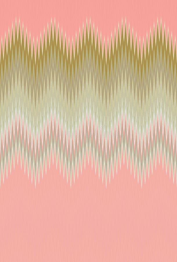 雪佛之字形波浪桃红色样式抽象派背景,珊瑚,倒挂金钟,上升了,三文鱼,蔷薇色,颜色趋向 免版税库存图片