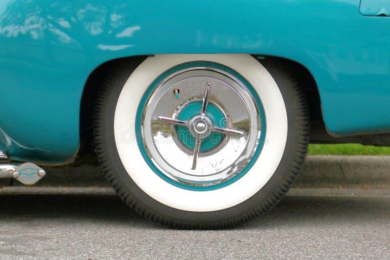 雪佛兰白色墙壁轮胎 免版税图库摄影