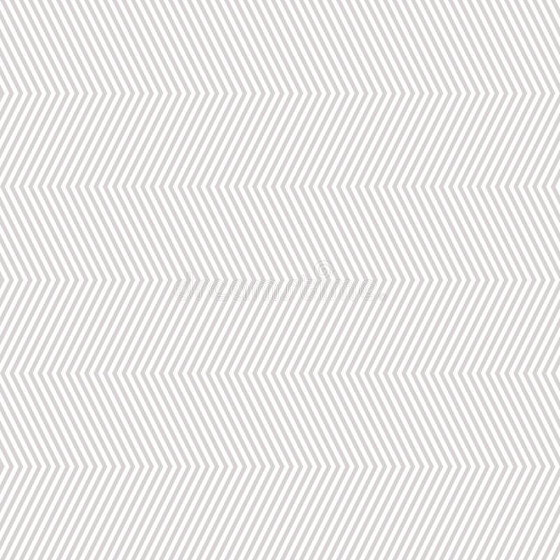 雪佛无缝的样式 与稀薄的灰色和白色之字形线的传染媒介纹理 皇族释放例证