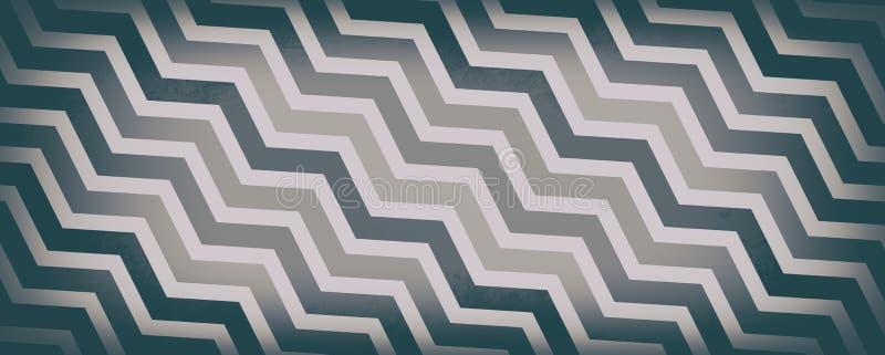 雪佛条纹在灰色棕色和白色,抽象葡萄酒或减速火箭的设计,几何样式背景树荫下  向量例证