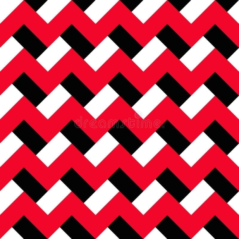 雪佛红色黑样式 向量例证
