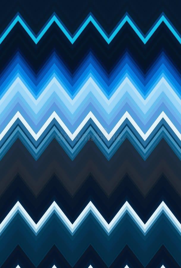 雪佛Z形图案抽象派背景,颜色趋向 运动汽车光微明,剧烈的口气 摘要发出光线五颜六色的s 皇族释放例证