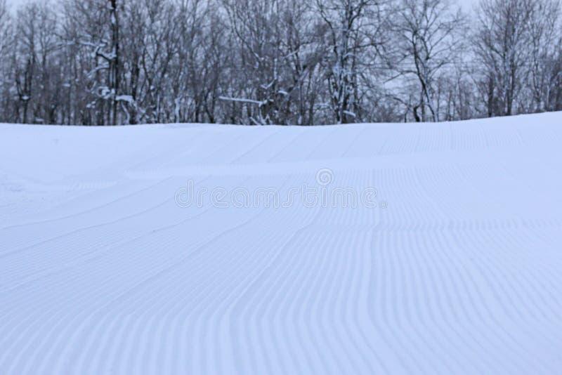 滑雪倾斜的表面 免版税库存照片