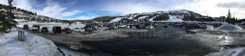 滑雪倾斜 图库摄影