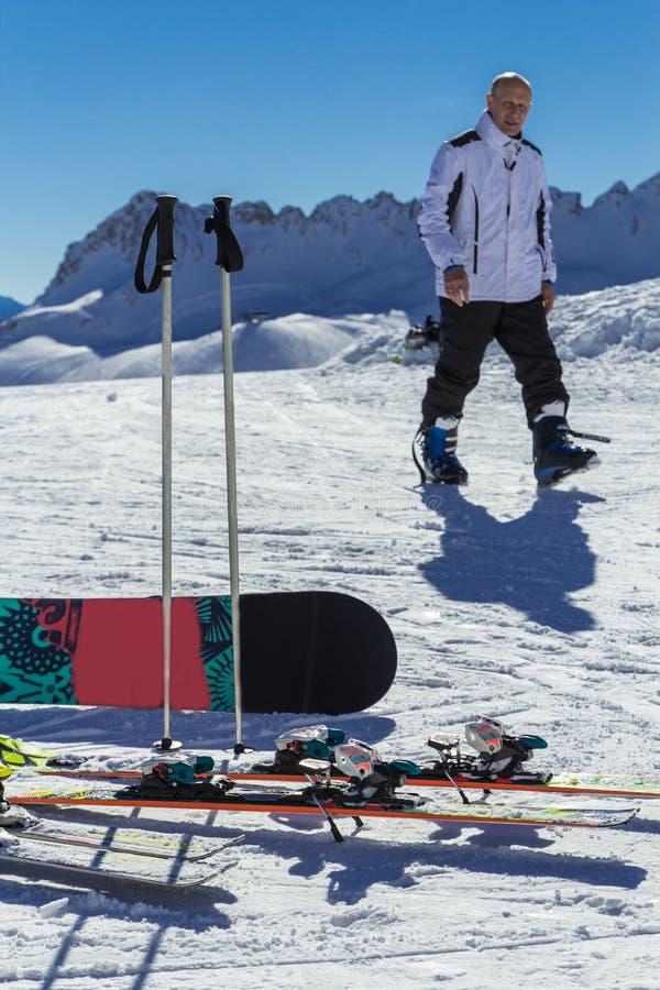 滑雪假日在奥地利 免版税库存图片