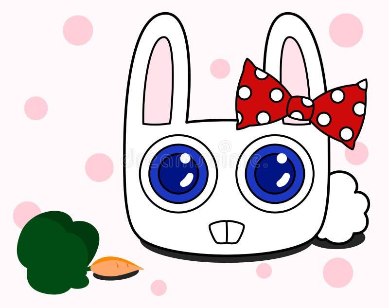 雪兔子 库存例证
