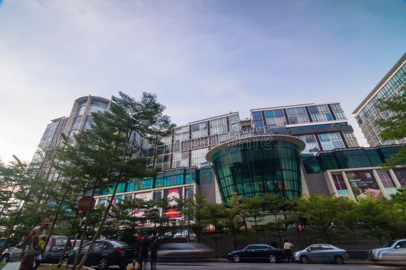 雪兰莪- 5月18 :这是2012年5月18日的新的商城电话帝国购物画廊在梳邦再也,雪兰莪,马来西亚 免版税图库摄影
