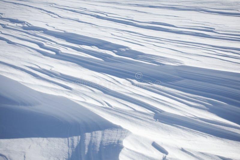 雪分层堆积背景 库存照片