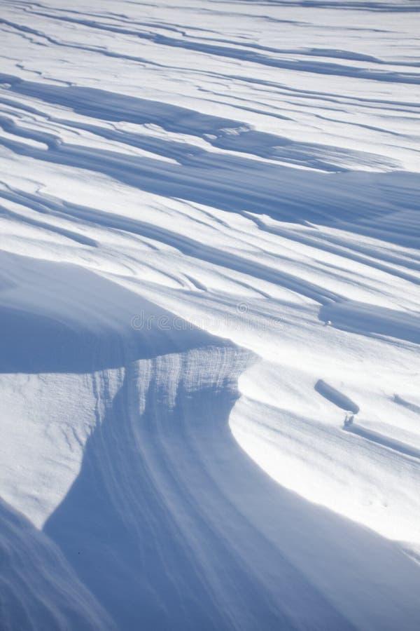 雪分层堆积背景 库存图片