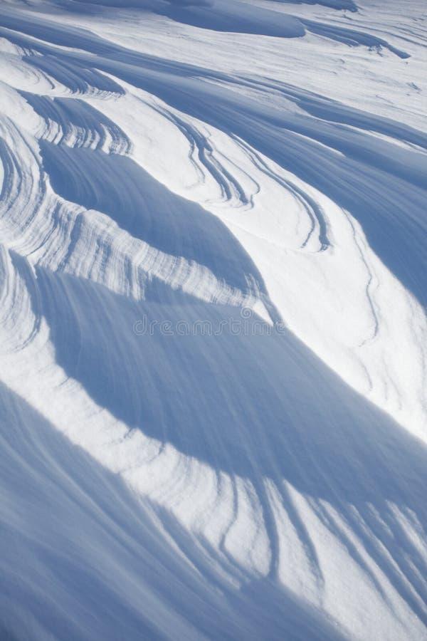 雪分层堆积背景 免版税库存照片