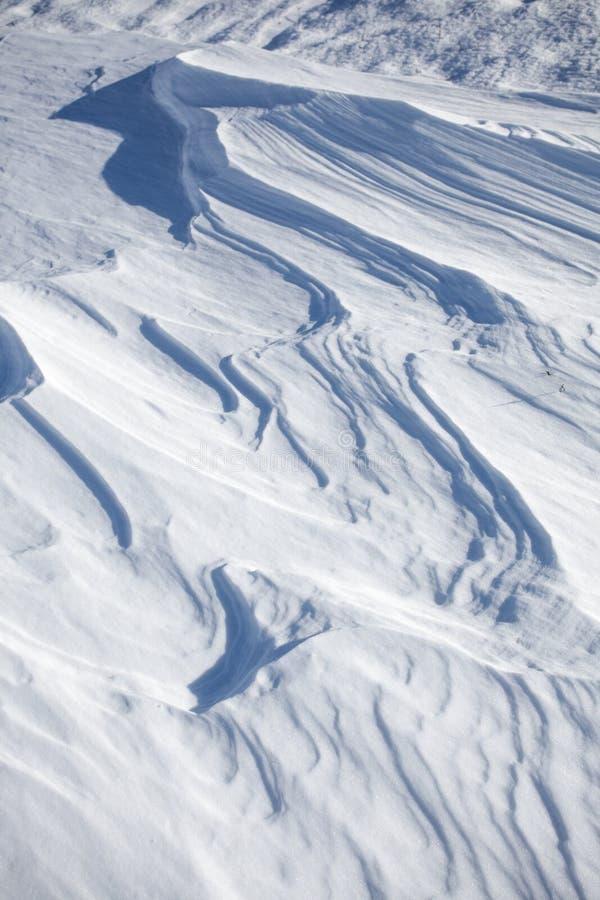 雪分层堆积背景 免版税库存图片