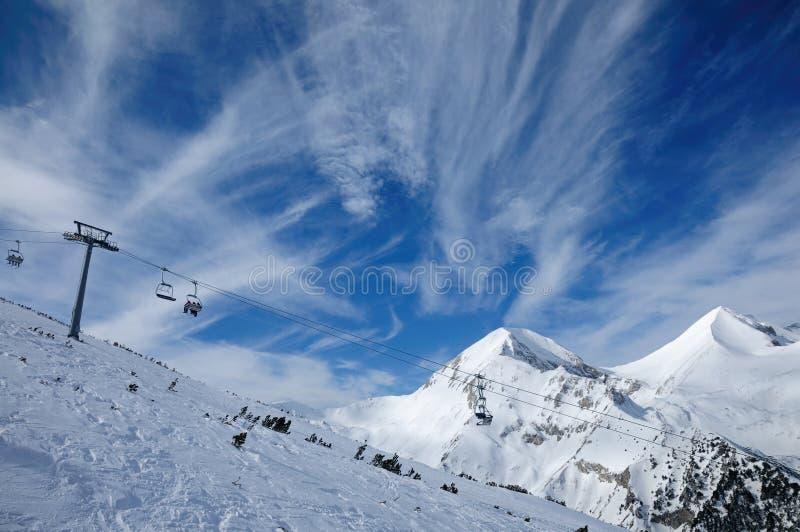 滑雪区域班斯科,保加利亚 图库摄影