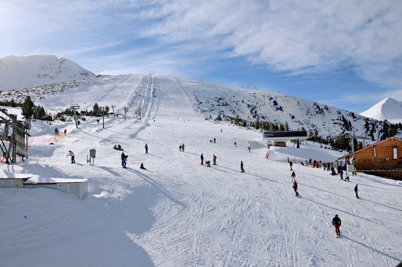 滑雪区域班斯科,保加利亚 库存图片