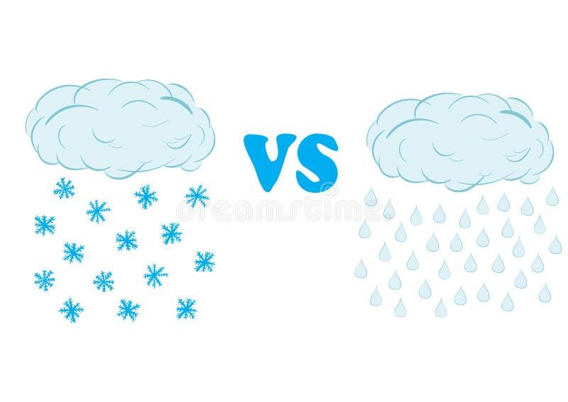 雪和雨 向量例证