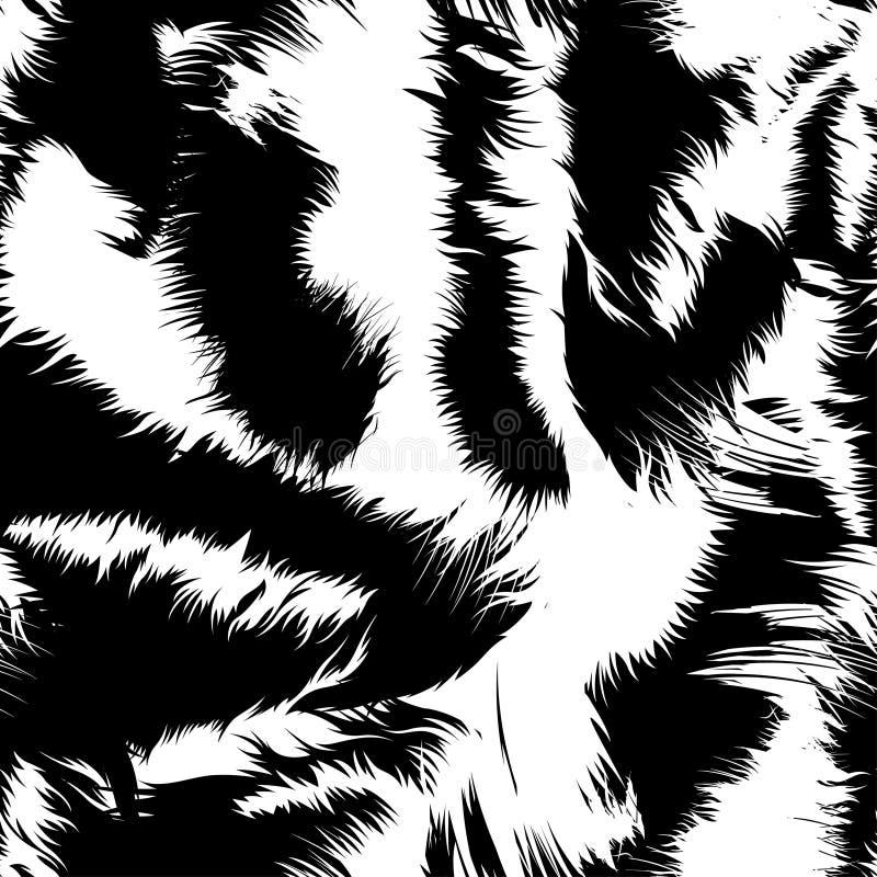 雪在一个无缝的样式的老虎条纹 皇族释放例证