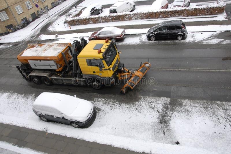 雪在卡斯特鲁普落 库存图片
