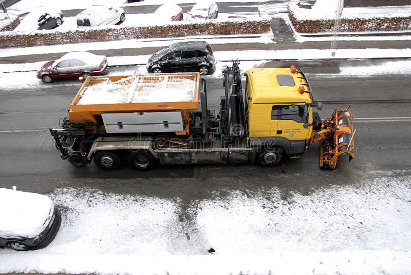 雪在卡斯特鲁普落 库存照片