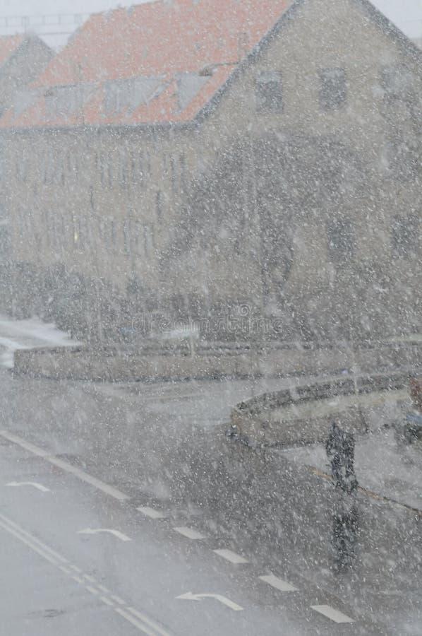 雪在哥本哈根 免版税库存图片
