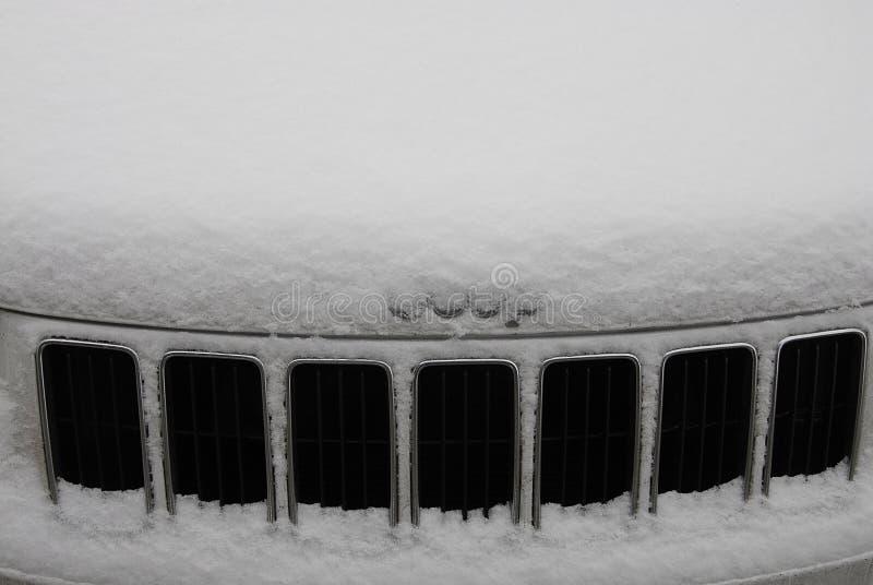 雪在斯波肯落 图库摄影