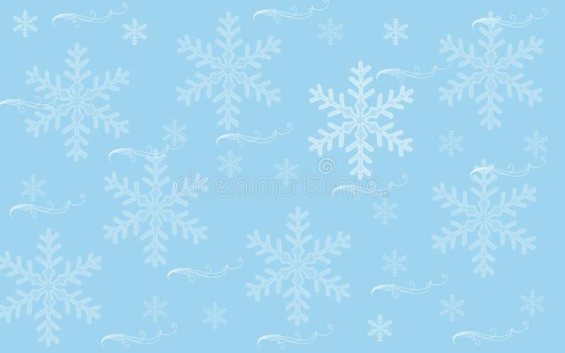 雪墙纸 库存例证