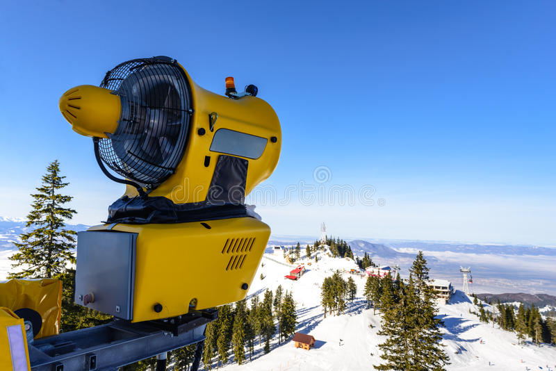 雪大炮, Poiana布拉索夫 库存图片