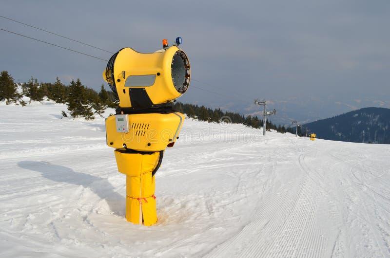雪大炮 图库摄影