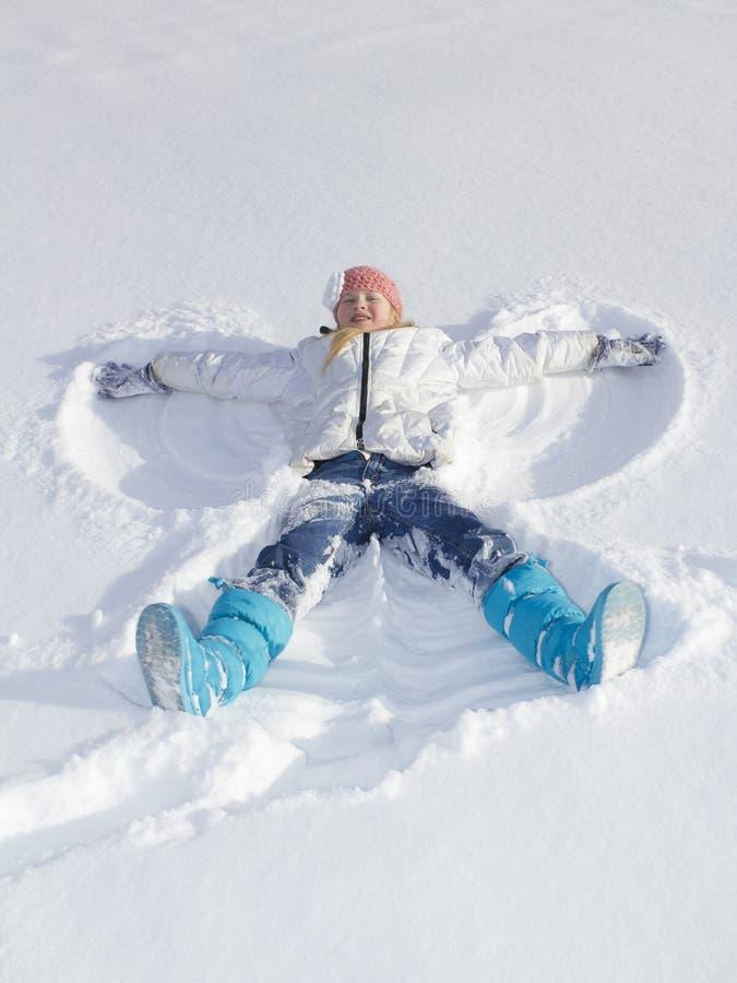 雪天使 库存图片