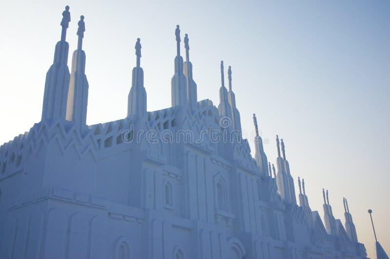 雪宫殿 免版税库存照片