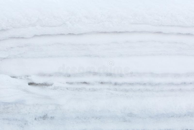 雪层数纹理冬天白色背景  图库摄影