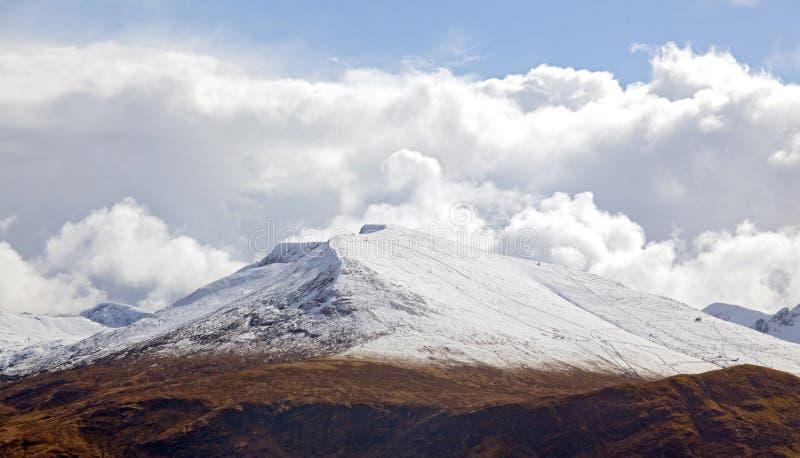 雪山脉横向 库存图片
