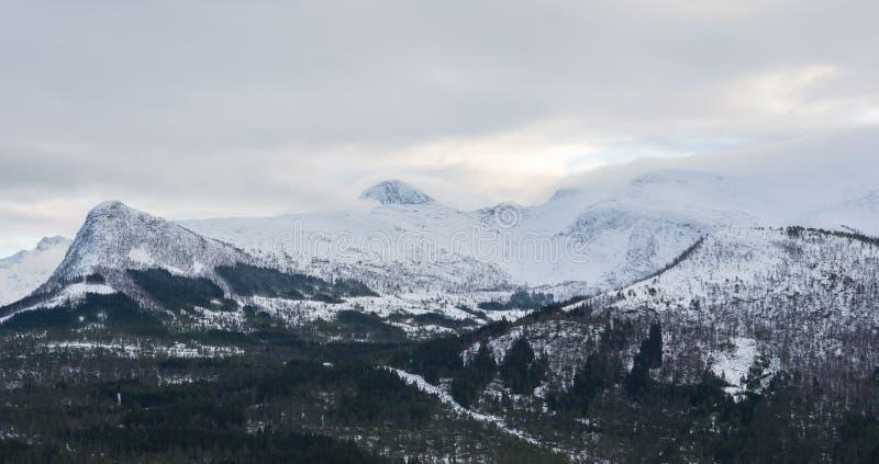 雪山,挪威 库存照片