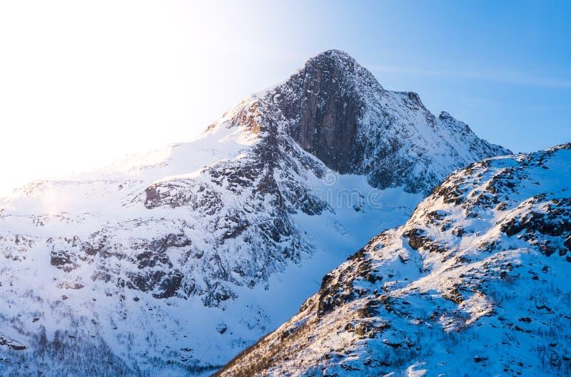 雪山, Tromsø 免版税库存图片