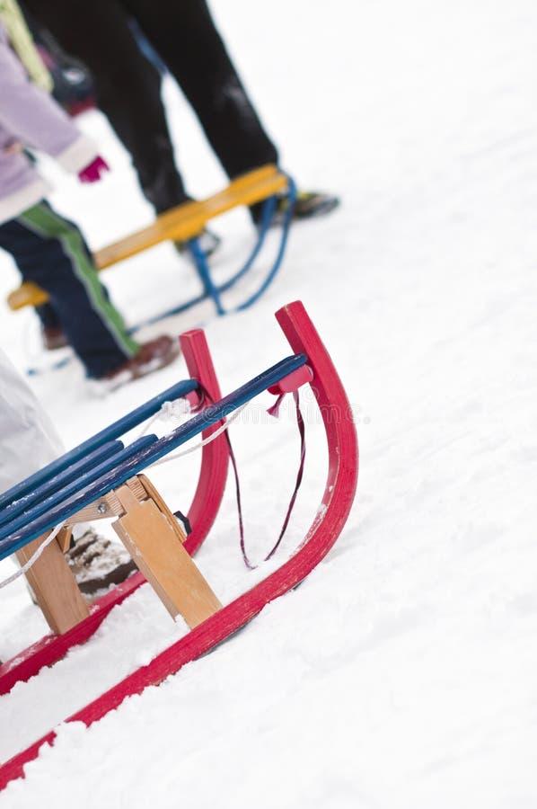 雪撬 库存照片