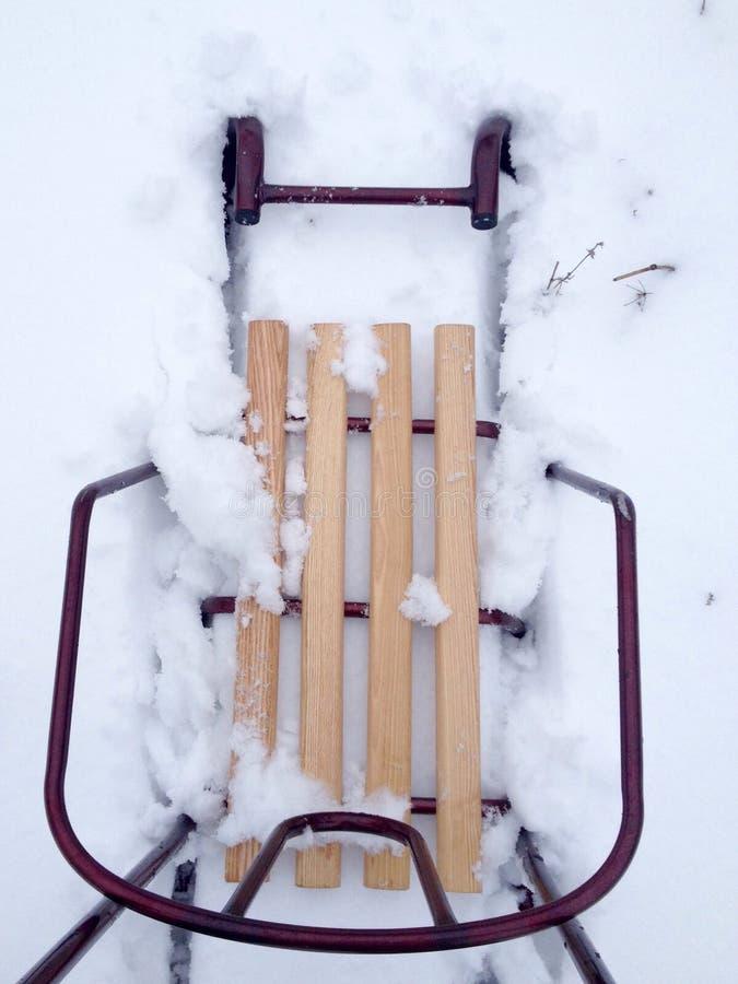 雪撬 免版税库存照片