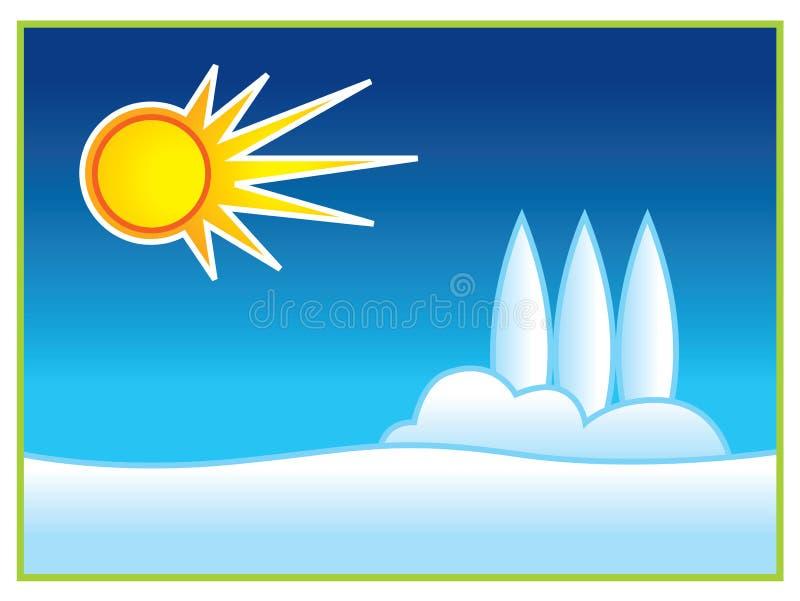 雪星期日 库存例证