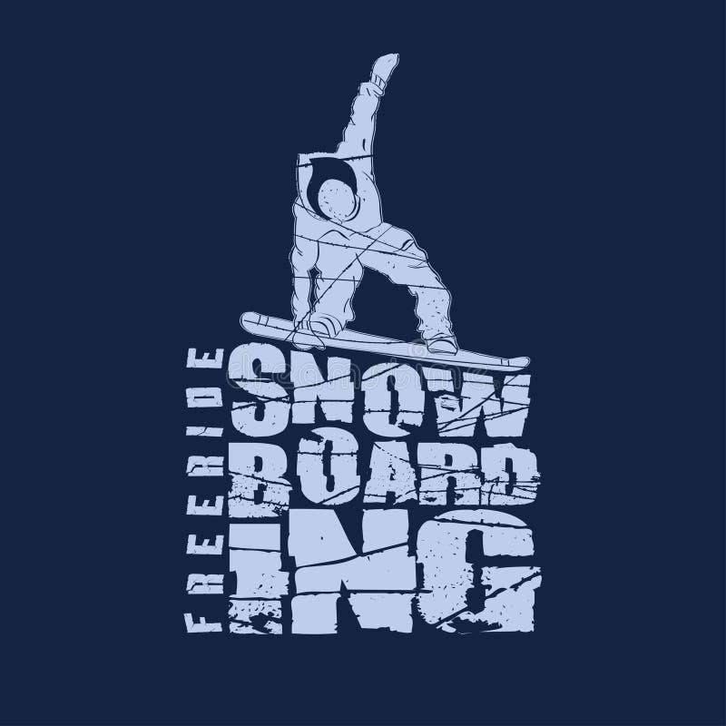 雪板运动体育象征 向量例证