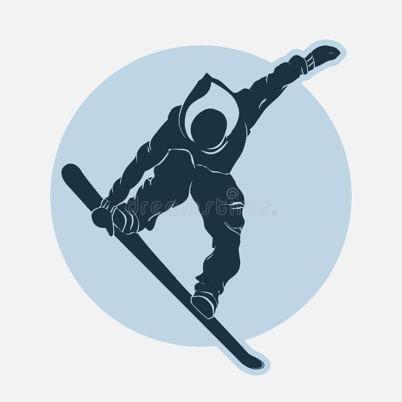 雪板运动体育象征 皇族释放例证