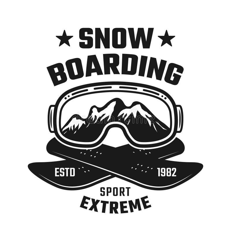 雪板运动冬天极端体育传染媒介象征 皇族释放例证
