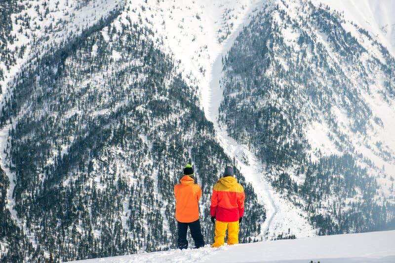雪板运动在冬天 免版税库存照片