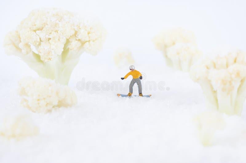 雪板运动玩具人 免版税库存图片