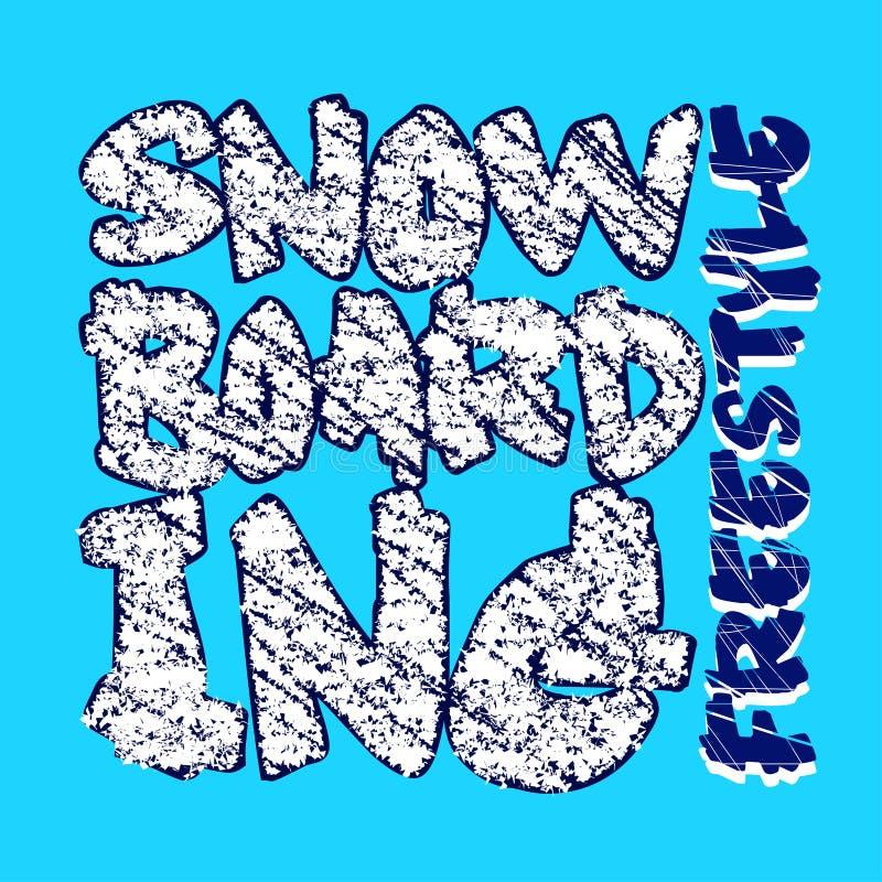 雪板运动蓝色设计 库存例证