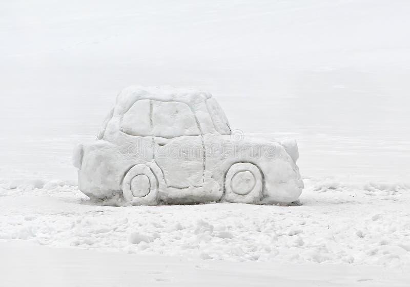雪汽车 免版税库存照片