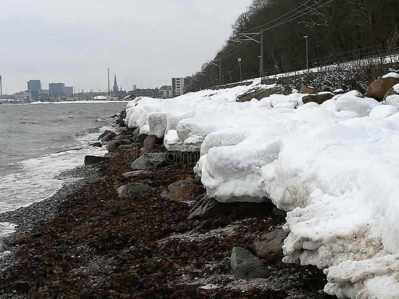 雪海滩 免版税图库摄影