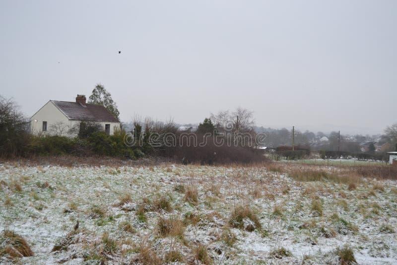 雪的一个房子 免版税图库摄影