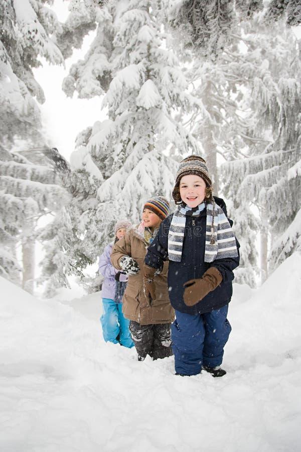 Download 雪的孩子 库存照片. 图片 包括有 子项, 节假日, 白种人, 兴奋, 欢乐, 森林, 冒险家, 查找, 干净 - 62534616