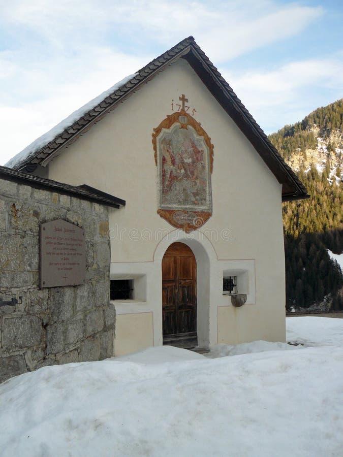 雪的教堂 图库摄影