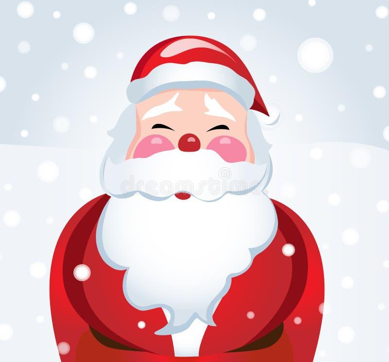 雪的笑的圣诞老人 库存例证